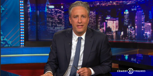 Jon Stewart in der «Daily Show» mit dem Thema «Mord in Charleston»