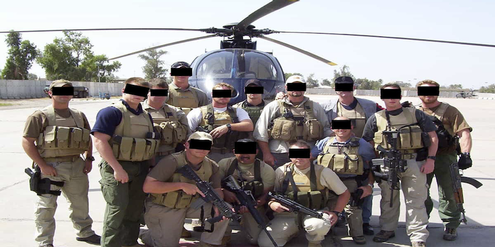 Von den USA beauftragte private Soldaten des Blackwater-Konzerns im Irak