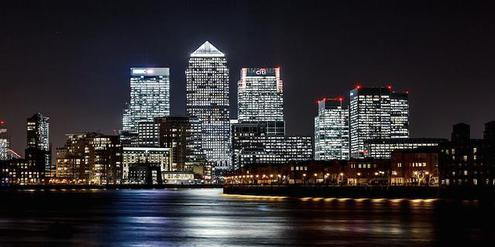 Londons Bankenviertel Canary Wharf