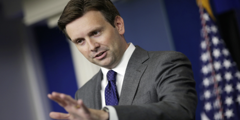 Josh Earnest, Sprecher des Weissen Hauses: «The White House is not concerned»