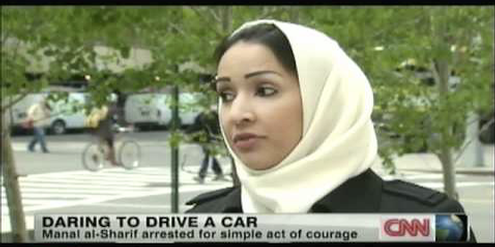Der TV-Sender CNN interviewt Manal al-Sharif 2012 in New York
