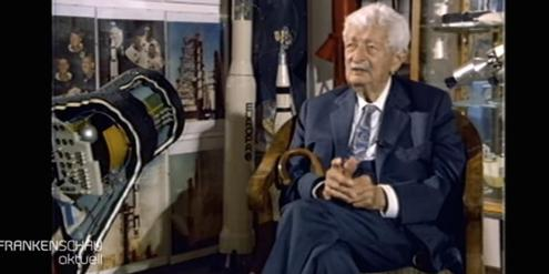 Strammer Nazi: Raketenpionier Hermann Oberth in einem TV-Interview 1988