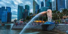 Ein weiteres Grossmaul in Singapur: der Merlion Fountain