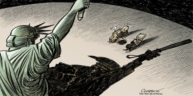 Chappatte_willkommen_NYT_Front