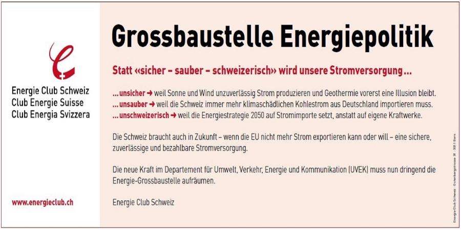 InseratEnergieClubSchweiz