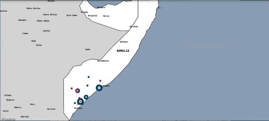 USstrikesinsomalia2020until11Maiairwars