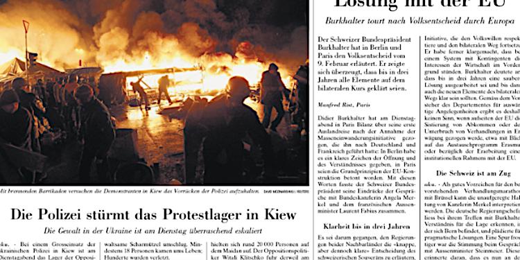 NZZ und Tages-Anzeiger informierten einseitig über die Ukraine