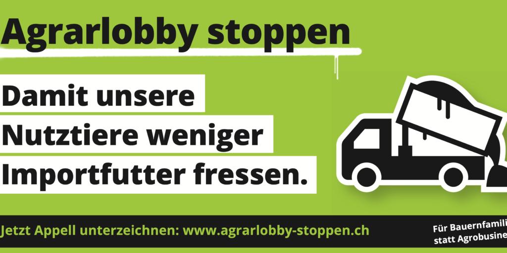 Agrarlobby stoppen Plakat