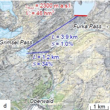 Karte ETH-Studie Rhonegletscher