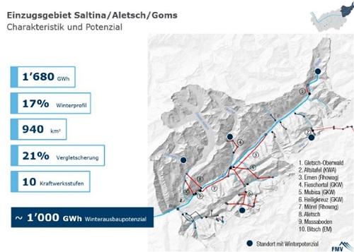 Karte Goms-Aletsch