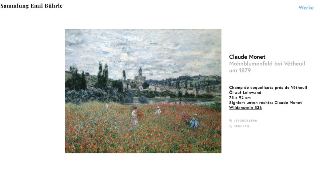 Sammlung Bührle Monet Mohnfeld