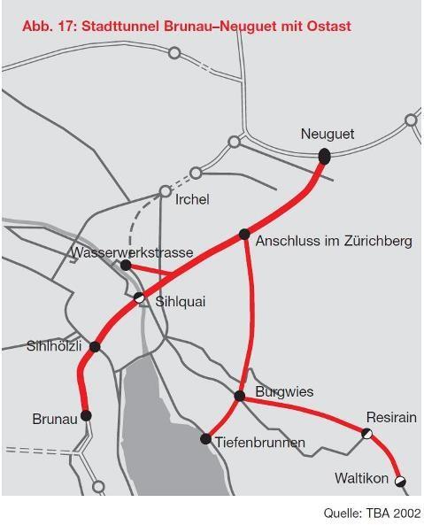 Bild Autobahnplanung Zürich 2005