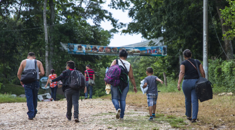 Migrants Cross the Guatemala - Mexico Borders everyday in route to the United States