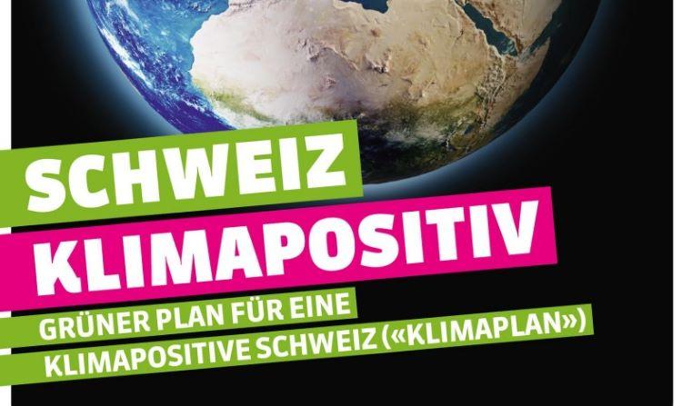 Klimaplan der Grünen Ausschnirtt Titelblatt