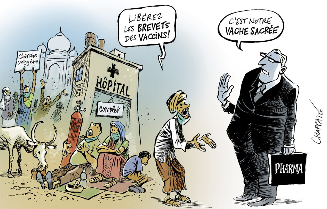 Covid Indien Chappatte