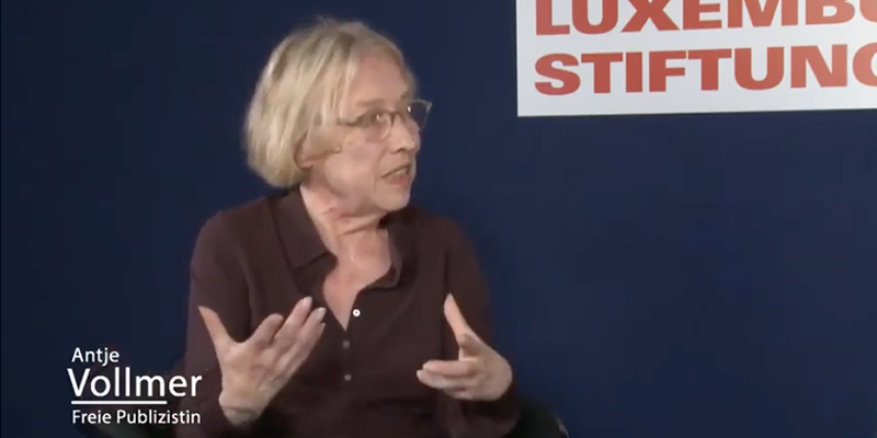 Antje Vollmer im Gespräch mit Paul Werner Wagner