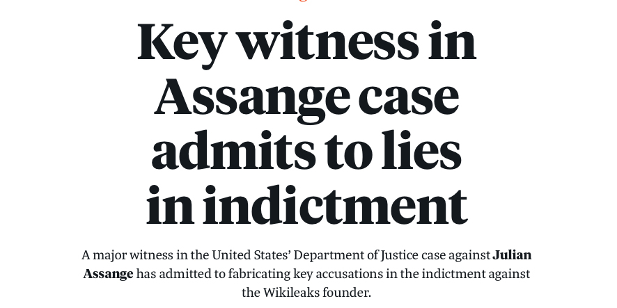 Hauptzeuge im Fall Assange