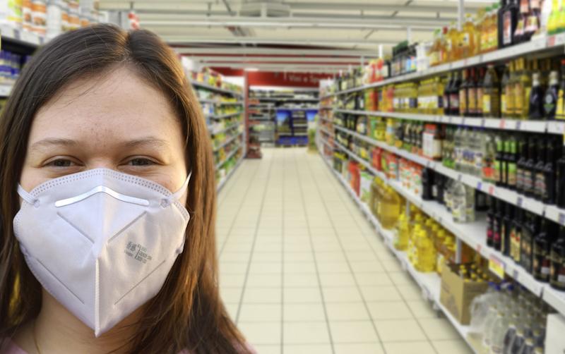 Shopping mit FFP2-Maske