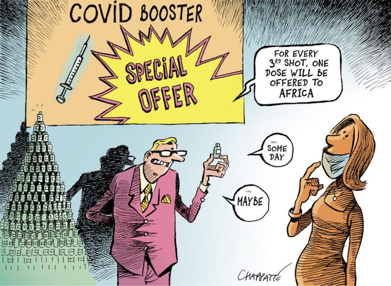 Chappatte zur 3. Covid Impfung