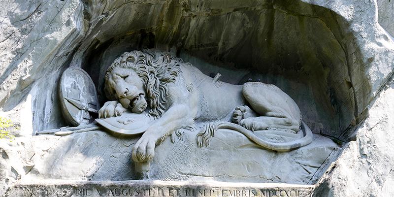 Luzern-Löwendenkmal