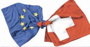 Flaggen SChweiz EU