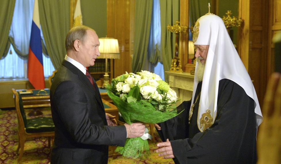Putin gratuliert Kirill.Kremlin